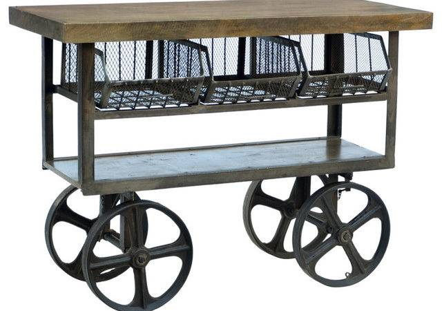 Lombard Trolley Cart Industrial Kitchen Islands