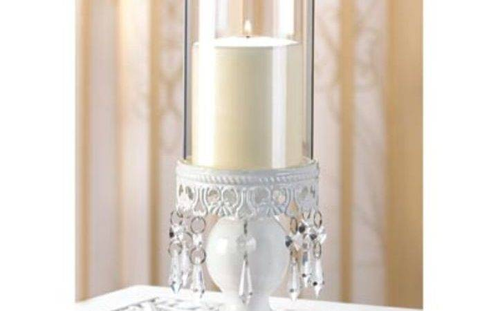 Lot Crystal Candle Holders Hurricane