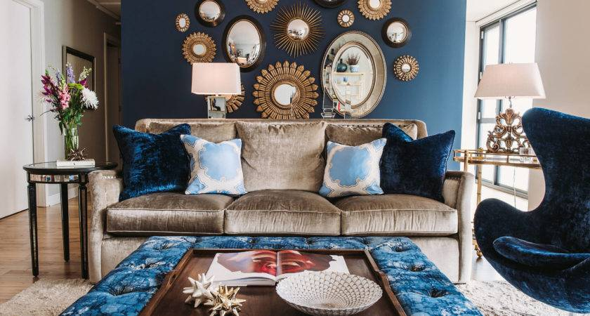 Lovable Blue Silver Living Room Designs Home Design