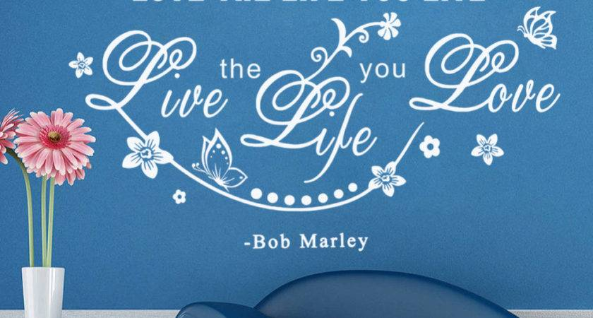 Love Life Live Creative Wall Sticker Quotes