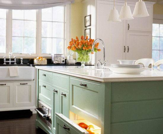 Lovely Light Green Kitchen Cabinets Lot More