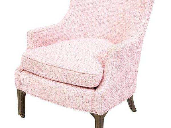 Lovely Light Pink Accent Chair Quality Furniture