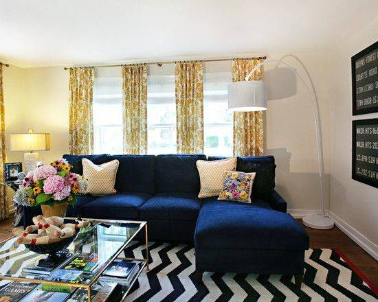 Lovely Living Room Designs Blue Accents Navy