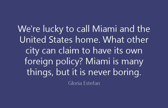 Lucky Call Miami United Gloria Estefan