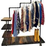 Lucy Industrial Pipe Garment Rack Clothes