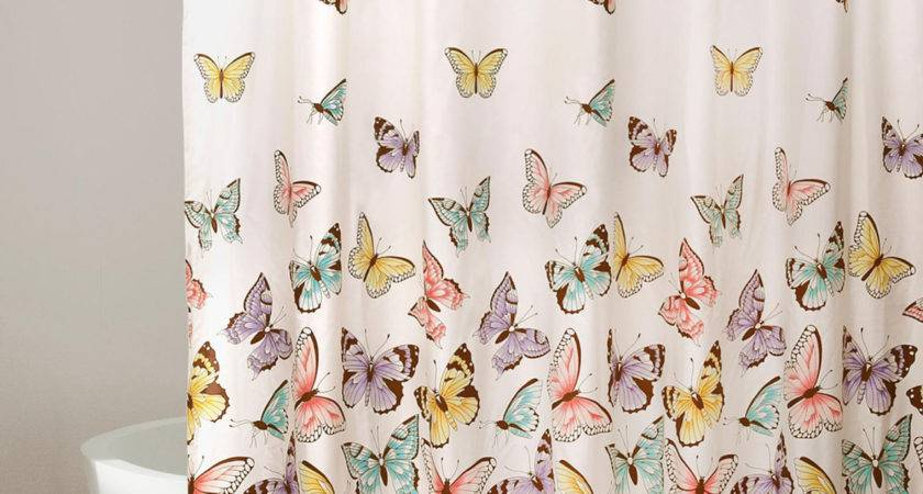 Lush Decor Flutter Butterfly Ruffle Shower Curtain Stage