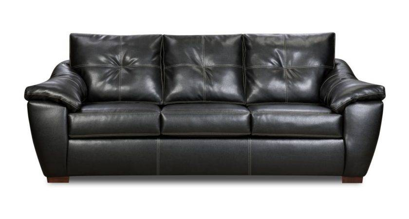 Lux Leather Black Sofa Living Room Part Home Inspiring
