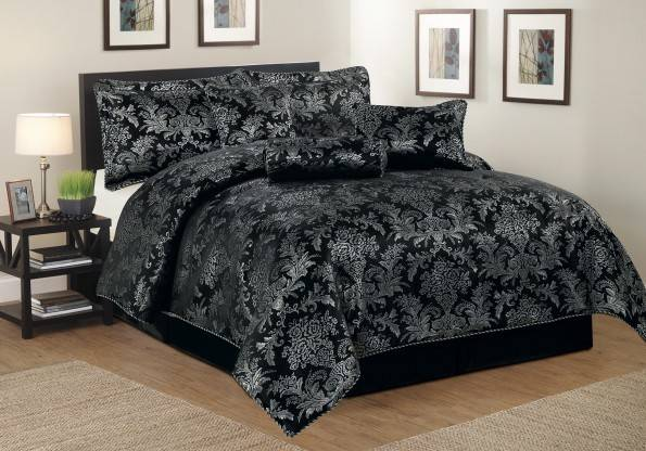 Luxurious Pcs Quilted Bed Spread Set Comforter