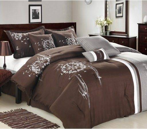 Luxury Bedding Set Emily Brown Grey Sets