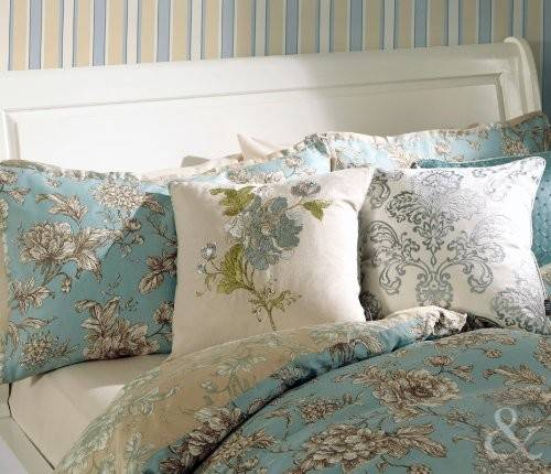 Luxury Cotton French Duvet Cover Reversible Toile Bedding