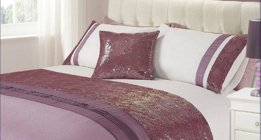 Luxury Glitzy Sequin Glitter Pink Lilac Duvet Cover