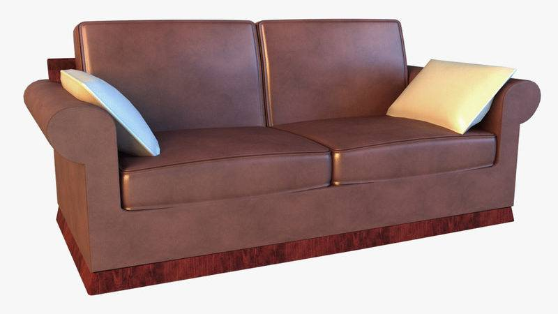 Luxury Leather Sofa Pillows Max
