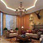 Luxury Living Rooms Ceiling Classic House