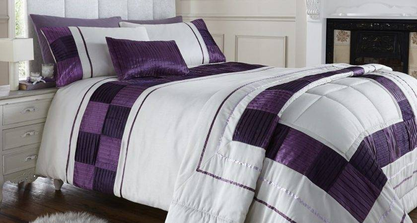 Luxury Pleated Double Bed Duvet Quilt Cover Bedding Set