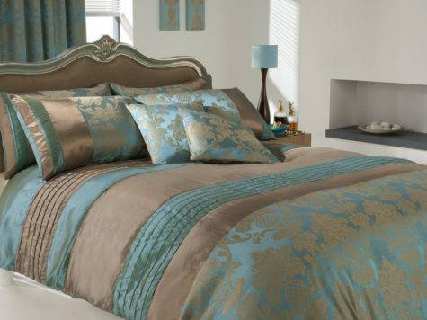 Luxury Printed Duvet Cover Pillow Cases Set Teal Ebay