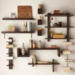 Magnificent Multi Shade Modern Wall Shelves Storage