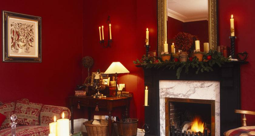 Magnificent Red Living Room Ideas Nice Wall