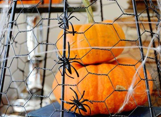 Make Chicken Wire Cloche Halloween Easy