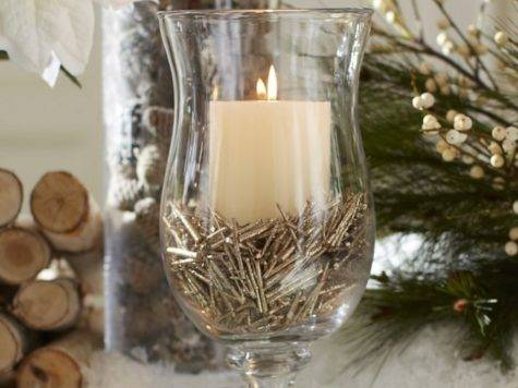 Make Christmas Centerpieces Candles Tables