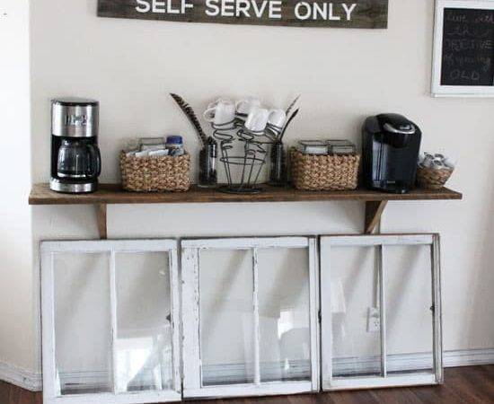 Make Coffee Station Out Dresser Mirror
