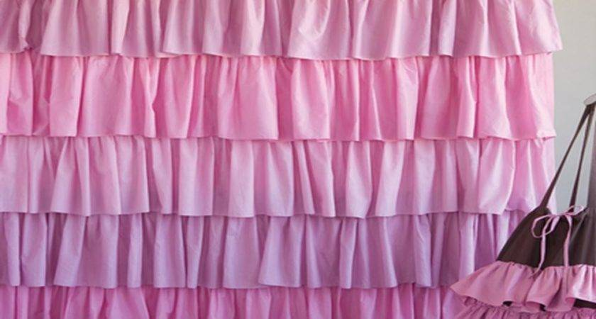 Make Waterfall Ruffle Shower Curtain Window