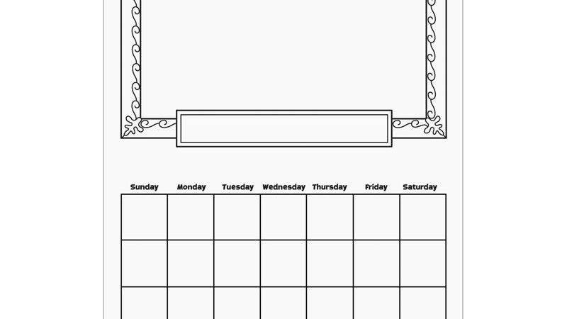 Make Your Own Calendar Weekly Template
