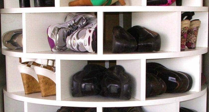 Make Your Own Lazy Susan Shoe Rack