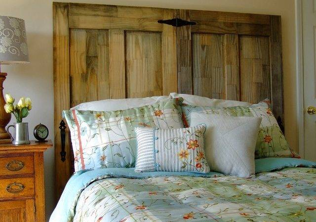 Make Your Own Rustic Chic Headboard Salvaged Doors