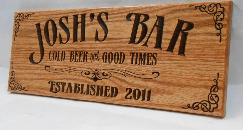 Man Cave Bar Sign Personalized Pub Business Signage