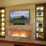 Marble Fireplace Wall Wenge Custom Frosted Glass