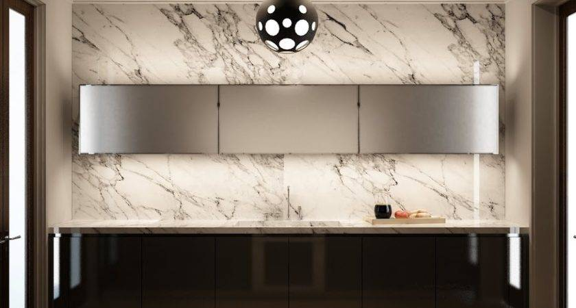Marble Kitchen Wall Interior Design Ideas