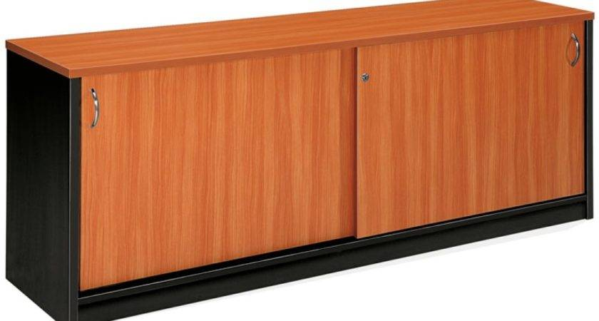 Marshall Buffet Office Storage Cabinet Cherry