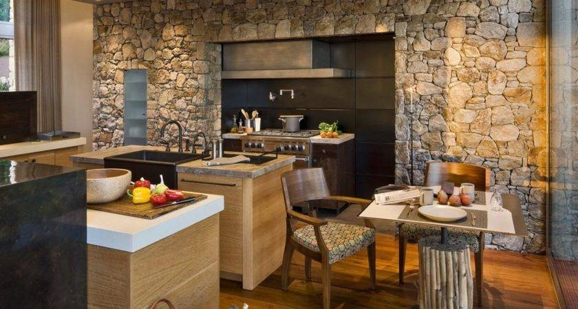 Marvelous Kitchen Design Ideas Stone Walls
