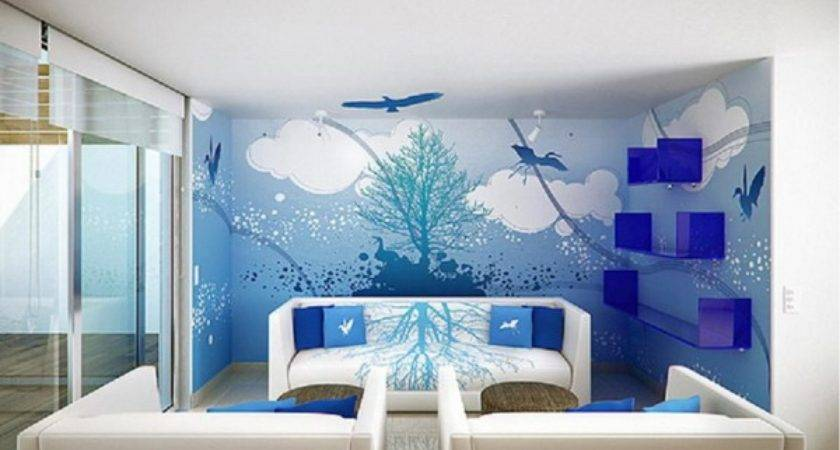 Marvelous Room Wall Designs Scenary Painting Plus