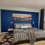 Masculine Bedroom Men Blue Wall Decor Black