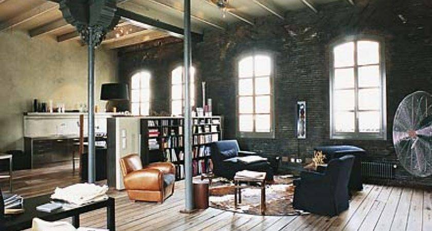 Masculine Office Decor Industrial Style Interior Design