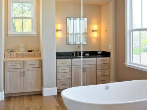 Master Bathrooms Wood Floors