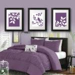 Master Bedroom Art Print Purple Decor Bath