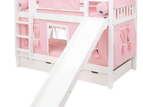 Maxtrix Low Bunk Bed Straight Ladder Slide Twin