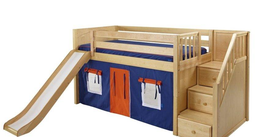 Maxtrix Low Loft Bed Staircase End Slide