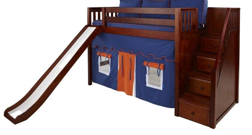 Maxtrix Mid Loft Bed Staircase End Slide
