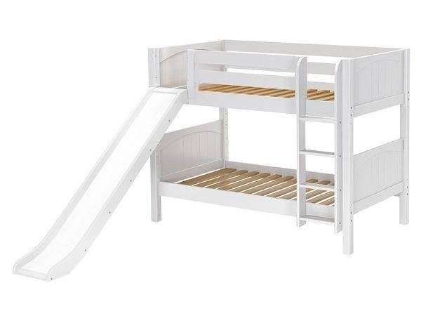 Maxtrixkids Smile Low Bunk Bed Straight Ladder