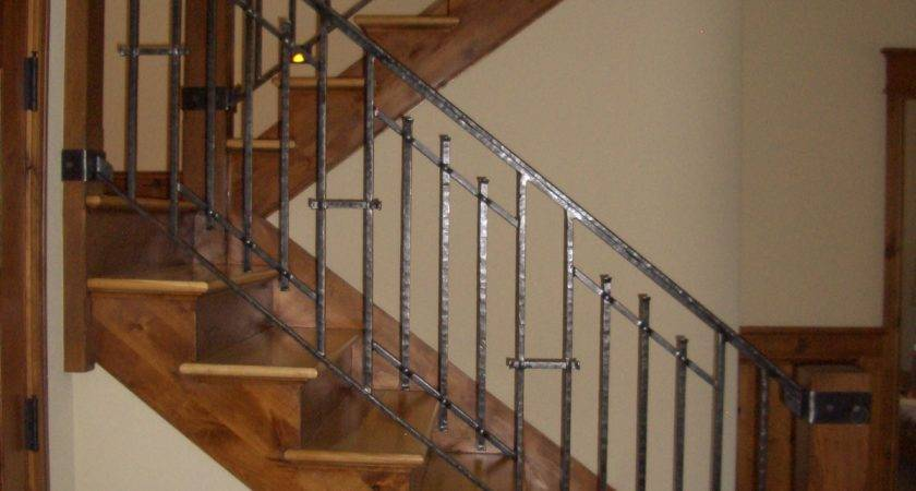 Mclean Forge Welding Custom Indoor Railing Boulder