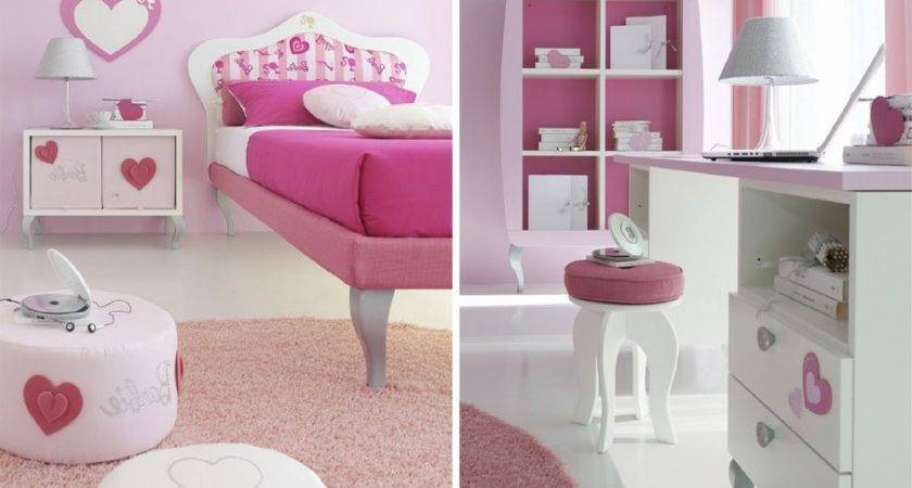 Mdf Pink Girl Bedroom Design Furniture Set