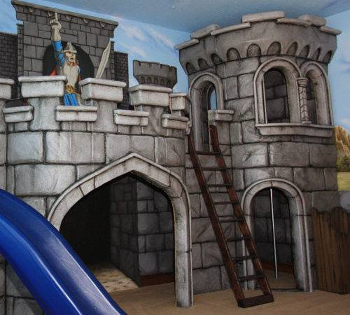 Medieval Castle Playhouse Mural Luxury Baby Cribs