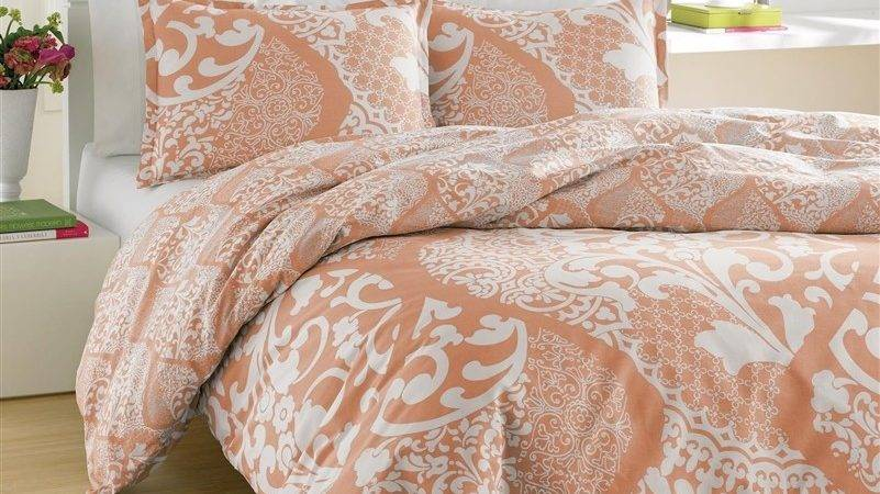 Medley Coral Twin Bedding Set Long