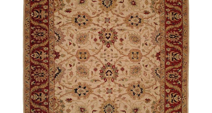 Meridian Rugmakers Hand Knotted Beige Red Area Rug Wayfair