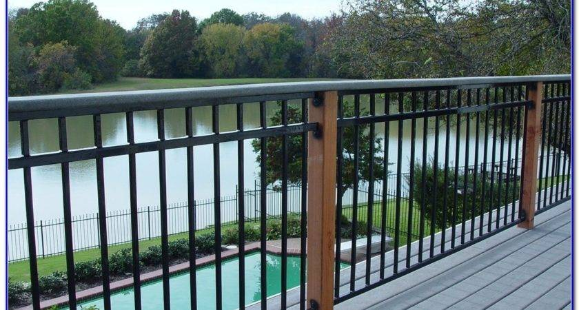 Metal Deck Railings Home Depot Decks Decorating