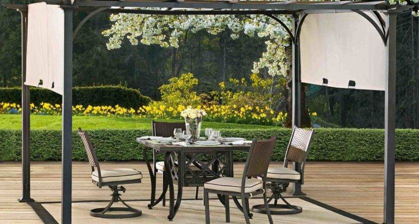 Metal Pergola Canopy Deck Flooring Home