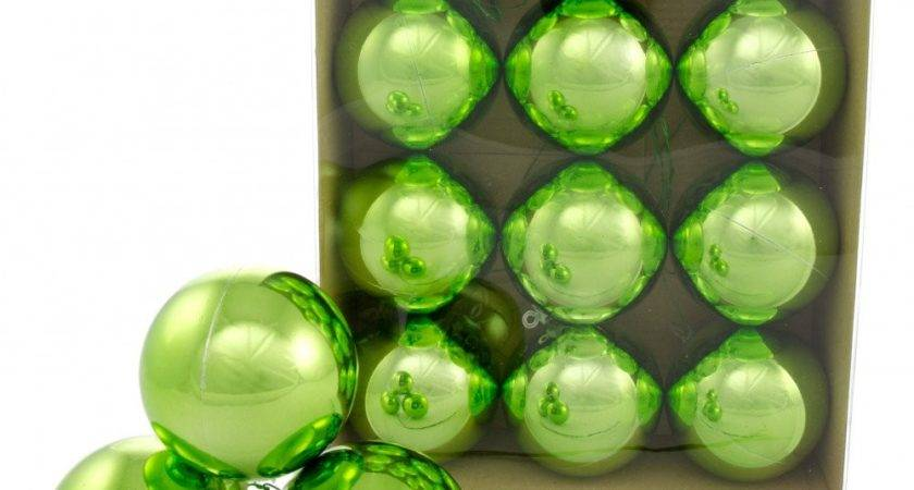 Metallic Ball Ornament Wire Lime Green